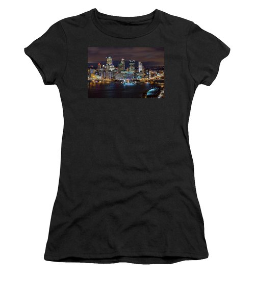 Light Up Night Pittsburgh 3 Women's T-Shirt (Athletic Fit)