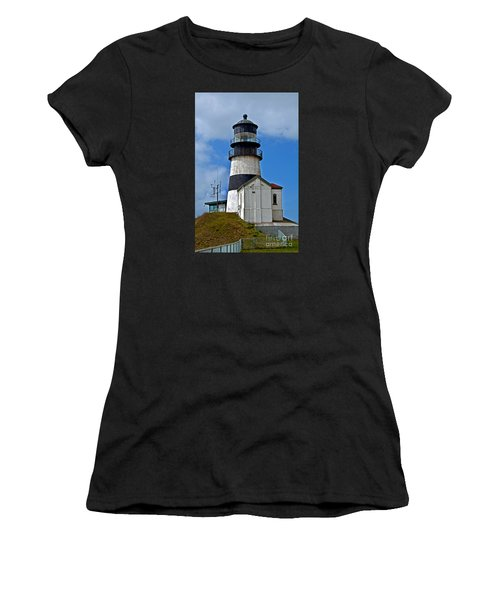 Lighthouse At Cape Disappointment Washington Women's T-Shirt