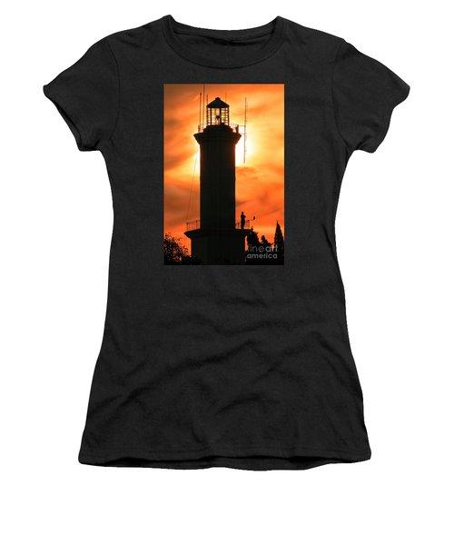 Women's T-Shirt (Junior Cut) featuring the photograph Lighthouse I by Bernardo Galmarini