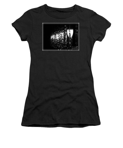 Women's T-Shirt (Junior Cut) featuring the photograph Lightwork by Clare Bevan