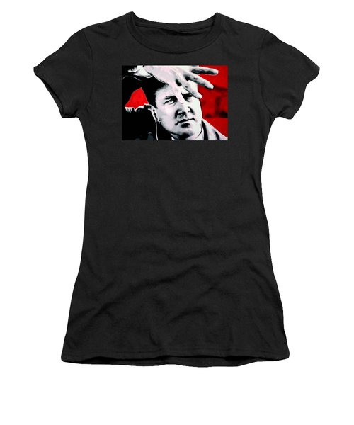 Women's T-Shirt (Junior Cut) featuring the painting Lil Shes My Mothers Sisters Girl by Luis Ludzska