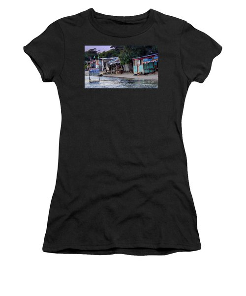Liliput Craft Village And Bar Women's T-Shirt (Athletic Fit)