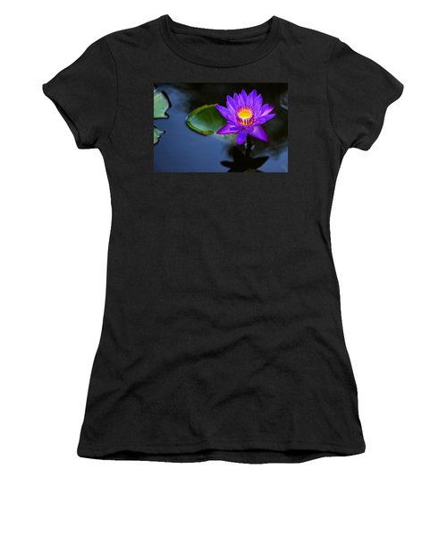 Women's T-Shirt (Junior Cut) featuring the photograph Lily Awakens by Dave Files