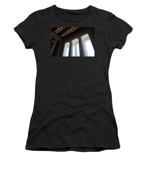 Lincoln Stained Glass And Columns Women's T-Shirt