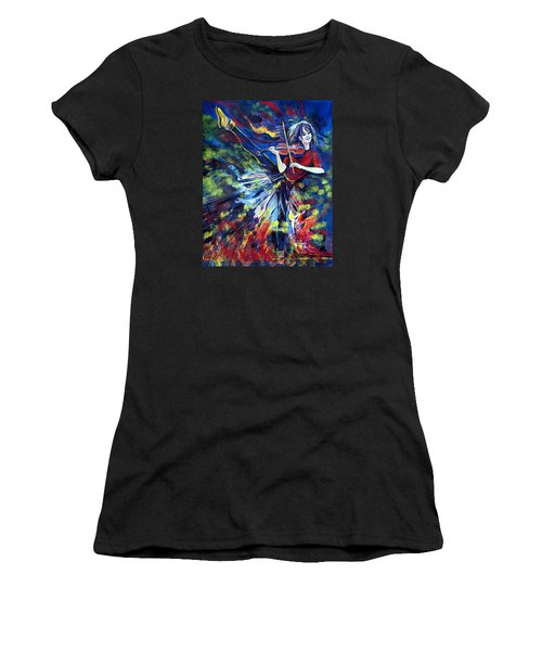 Lindsey Stirling. Dancing Violinist Women's T-Shirt (Athletic Fit)