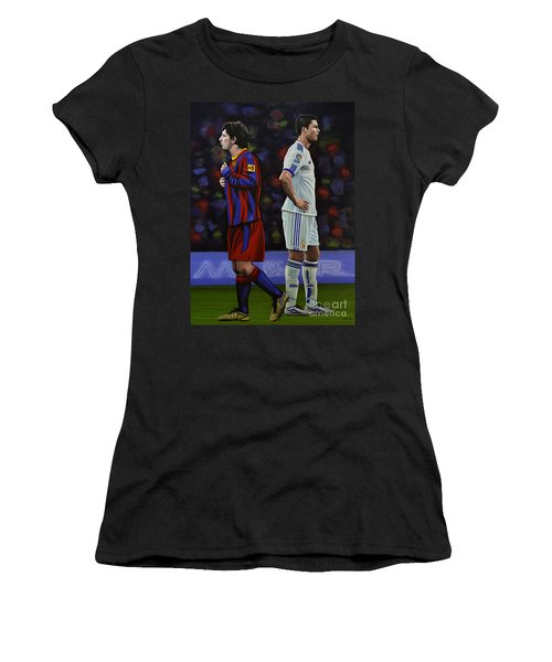 Lionel Messi And Cristiano Ronaldo Women's T-Shirt