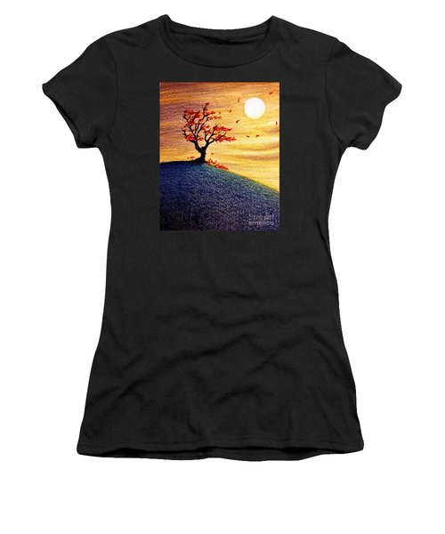 Little Autumn Tree Women's T-Shirt (Athletic Fit)