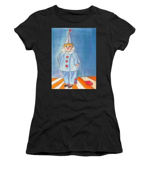 Little Blue Clown Women's T-Shirt (Athletic Fit)