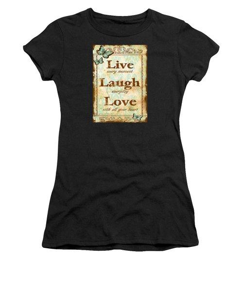 Live-laugh-love Women's T-Shirt (Athletic Fit)