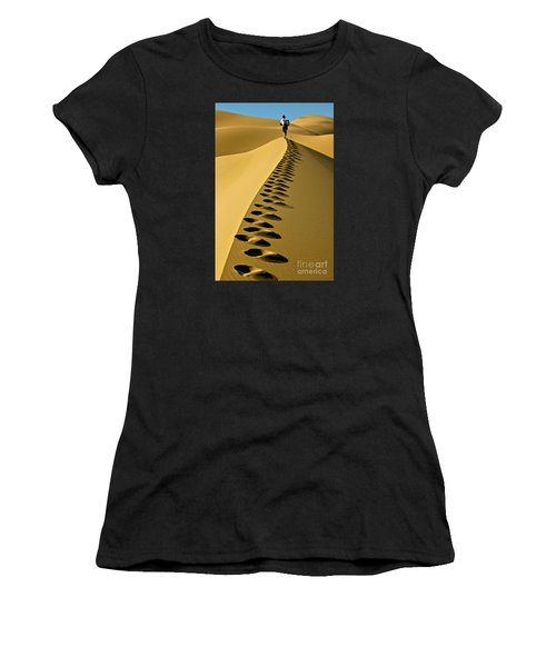 Live On The Edge Women's T-Shirt (Athletic Fit)