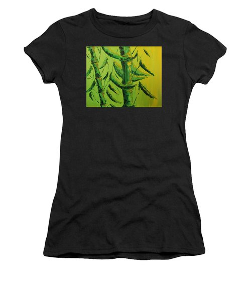 Lively Lime Bamboo Women's T-Shirt (Athletic Fit)