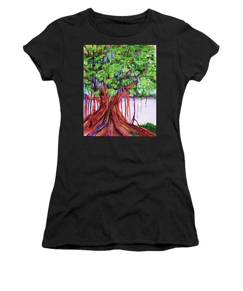 Living Banyan Tree Women's T-Shirt (Athletic Fit)