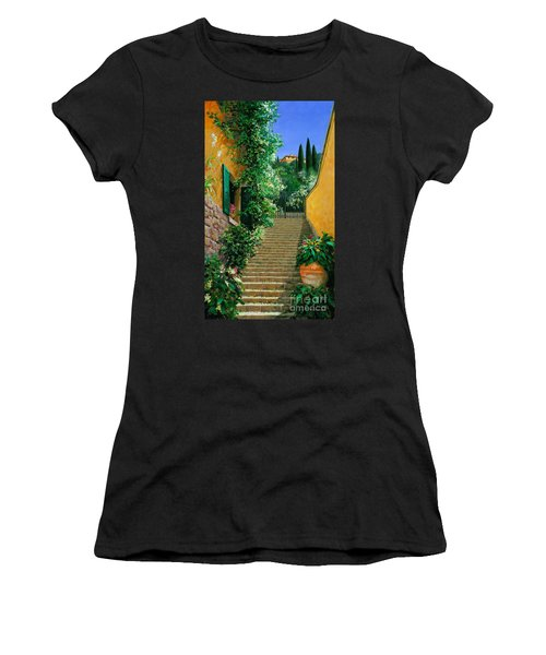 Women's T-Shirt (Junior Cut) featuring the painting Lofty Heights by Michael Swanson