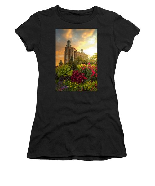 Logan Temple Garden Women's T-Shirt (Athletic Fit)