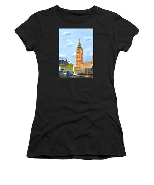 London England Big Ben  Women's T-Shirt (Athletic Fit)