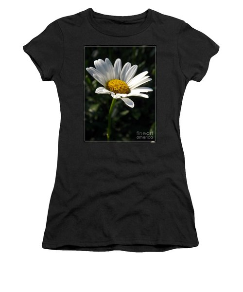 Lone Daisy Women's T-Shirt (Junior Cut) by Sara  Raber
