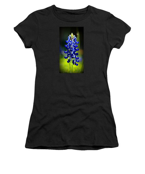 Lone Star Bluebonnet Women's T-Shirt (Junior Cut) by Stephen Stookey