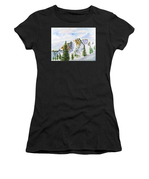 Lone Tree In The Morning Women's T-Shirt (Athletic Fit)