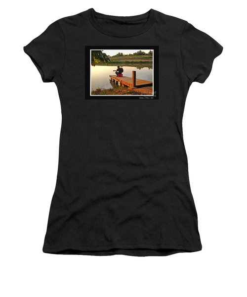 Lonely Guitarist Women's T-Shirt (Athletic Fit)