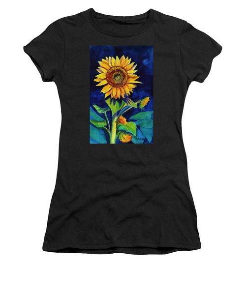 Midnight Sunflower Women's T-Shirt (Athletic Fit)