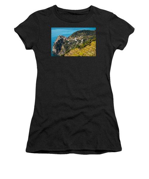 Looking Down Onto Corniglia Women's T-Shirt