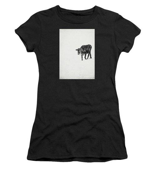 Lost Calf Struggling In A Snow Storm Women's T-Shirt