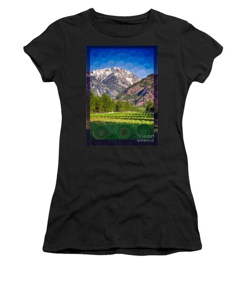Lost River Airport Runway Abstract Landscape Painting Women's T-Shirt