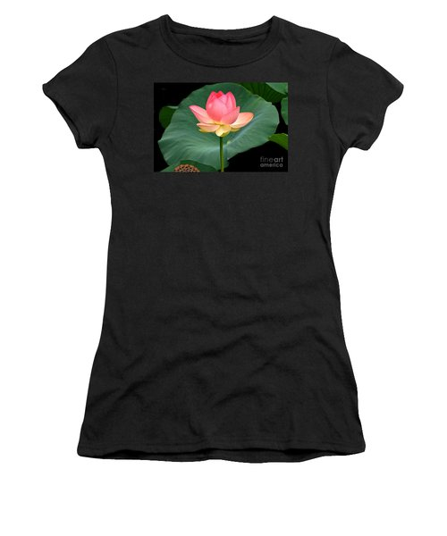 Lotus Of Late August Women's T-Shirt (Athletic Fit)