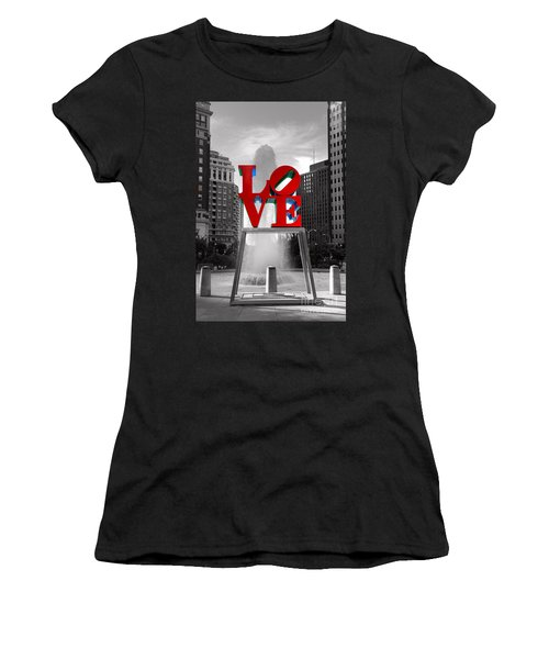 Love Isn't Always Black And White Women's T-Shirt (Athletic Fit)