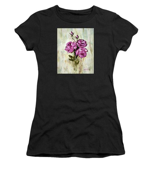 Lovely Roses Women's T-Shirt (Athletic Fit)