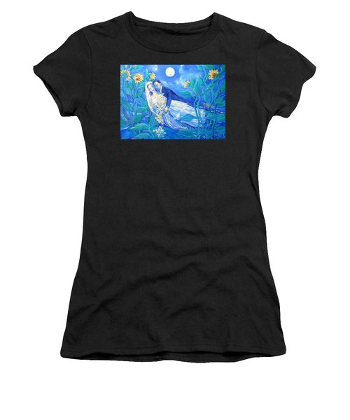 Lovers And Sunflowers  After Marc Chagall  Women's T-Shirt