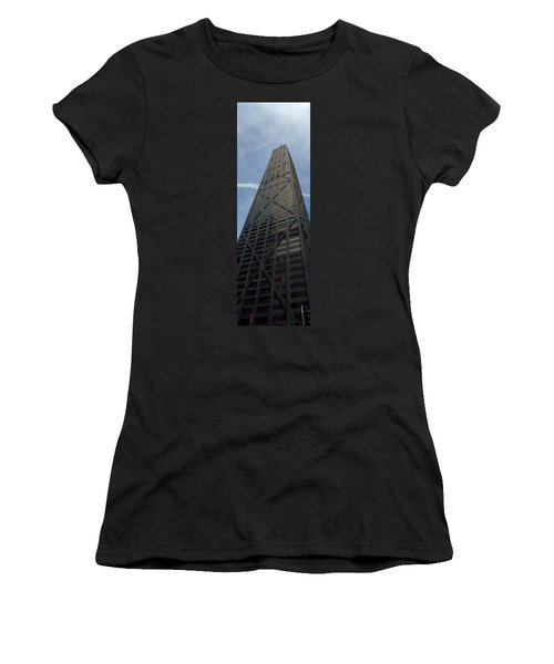 Low Angle View Of A Building, Hancock Women's T-Shirt (Junior Cut) by Panoramic Images