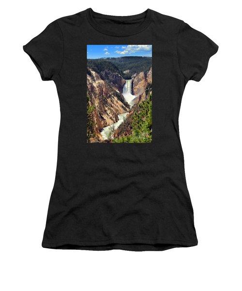 Lower Falls Of Yellowstone Women's T-Shirt