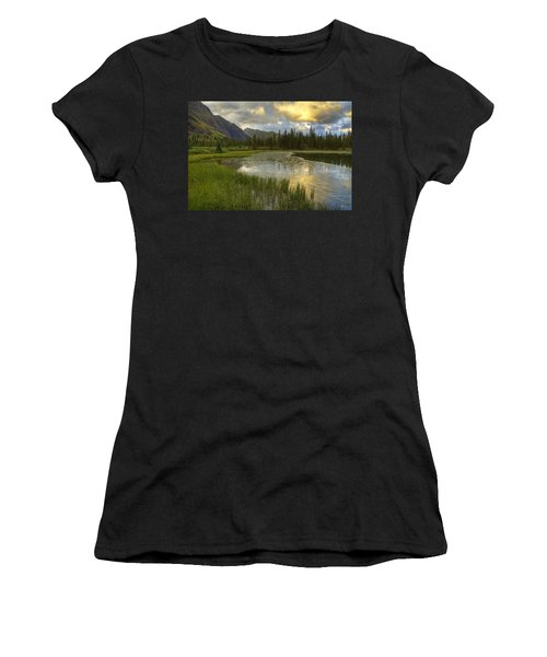 Lower Ice Lake Women's T-Shirt (Junior Cut) by Alan Vance Ley