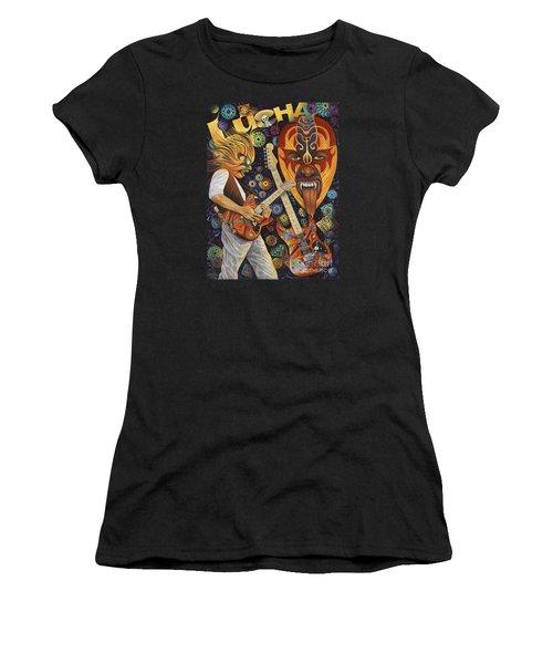 Lucha Rock Women's T-Shirt (Junior Cut) by Ricardo Chavez-Mendez