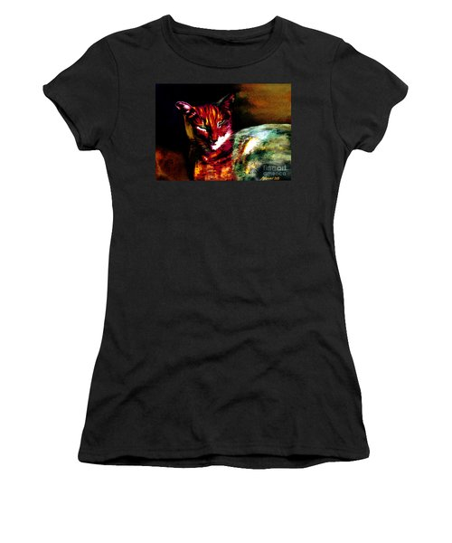 Lucifer Sam Tiger Cat Women's T-Shirt (Athletic Fit)