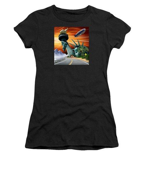 Lucky Star Women's T-Shirt (Junior Cut) by Scott Ross