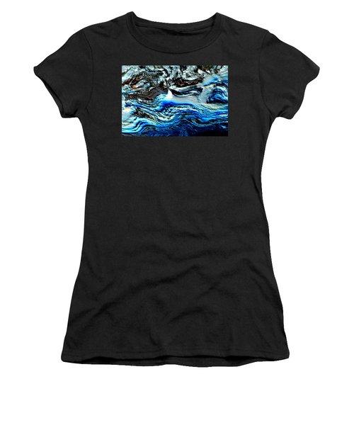 Women's T-Shirt (Junior Cut) featuring the digital art Lumenittoral by Richard Thomas