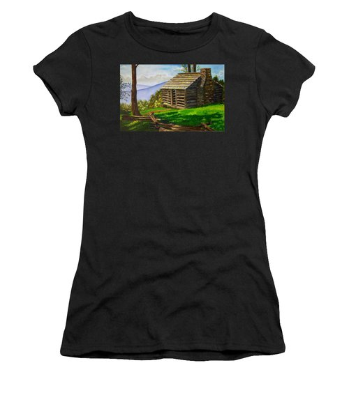 Lunch At An Old Cabin In The Blue Ridge Women's T-Shirt
