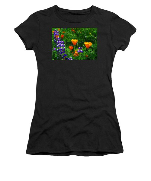 Lupines And Poppies Women's T-Shirt