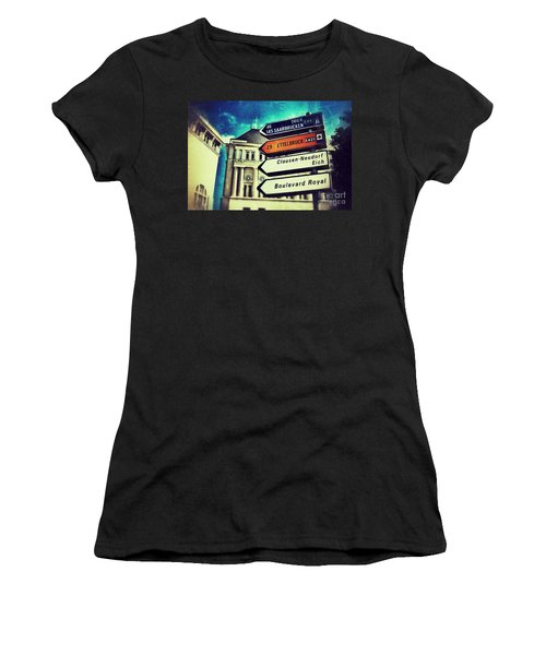 Women's T-Shirt (Junior Cut) featuring the photograph Luxembourg City by Nick  Biemans