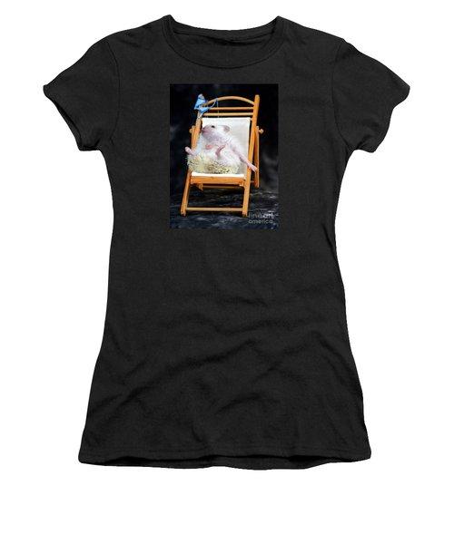 Lyla Sunbathing Women's T-Shirt (Athletic Fit)
