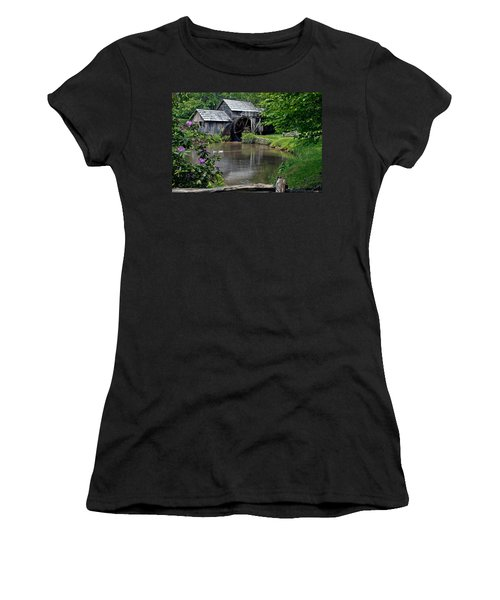 Women's T-Shirt (Junior Cut) featuring the photograph Mabry Mill In May by John Haldane