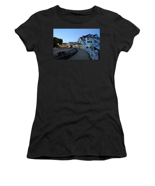 Mackinac Island At Dusk Women's T-Shirt (Athletic Fit)