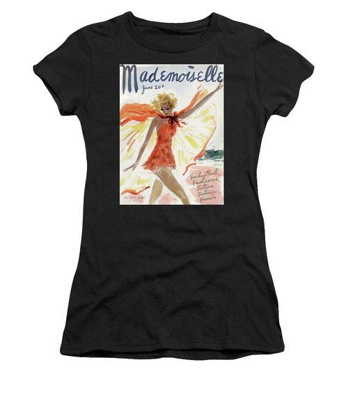 Mademoiselle Cover Featuring A Model At The Beach Women's T-Shirt