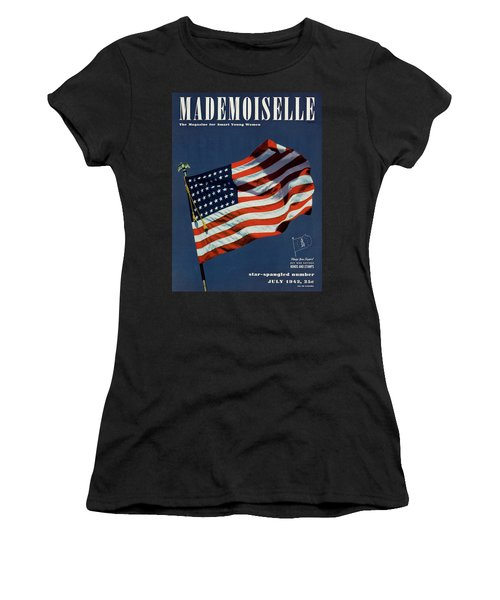 Mademoiselle Cover Featuring The U.s. Flag Women's T-Shirt