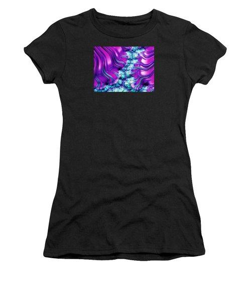 Magenta And Aqua Soft Fractal Abstract Women's T-Shirt