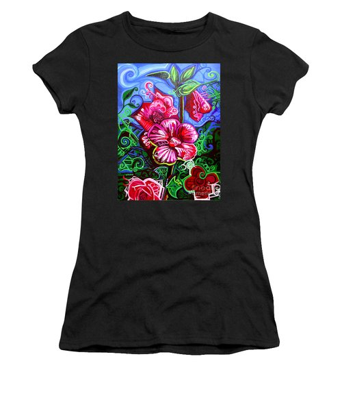 Magenta Fleur Symphonic Zoo I Women's T-Shirt (Athletic Fit)