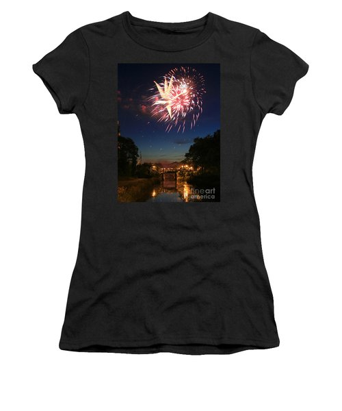 Women's T-Shirt (Junior Cut) featuring the photograph Magic In The Sky by Paula Guttilla