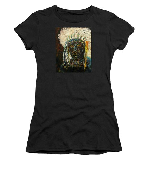 Magic Powers,  Native American Indian Chief Women's T-Shirt (Athletic Fit)